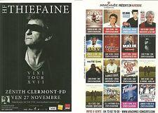 FLYER PLV - H. F THIEFAINE EN CONCERT LIVE 2015 ZENITH AUVERGNE CLERMONT FERRAND
