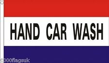 HAND CAR WASH Shop Sign Advertising POS 5'x3' Flag *** TO CLEAR ***