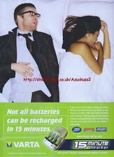 Varta 15 Minute Charge And Go 2004 Magazine Advert #3542