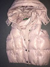 Girls Pink Benetton Gilet / bodywarmer age 4-5 Y Great con 50% down 50% feathers