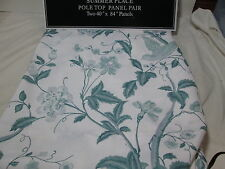 "New Laura Ashley SUMMER PLACE Pole Top Panel Pair Two 40""x84"" ~ Flowers/Birds"