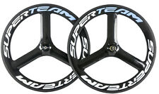 700C 65mm Tri Spokes Carbon Wheelset Cycling Road Bike Carbon Wheels Front&Rear