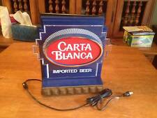 "LIGHTED SHELF BEER SIGN ""CARTA BLANCA"" IMPORTED BEER    IN PRISTINE CONDITION"