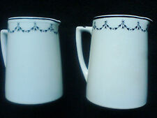 POUNTNEY & Co LTD ' VITRITE'  Bristol 4 ¼ and 4 3/4 inch Jugs white/black detail