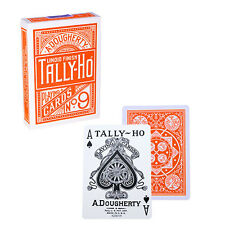 Tally Ho Fan Back Deck - Orange - Playing Cards - Magic Tricks - New