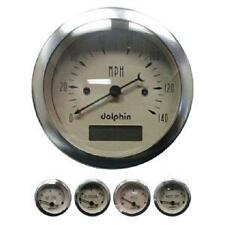 DOLPHIN TAN 5 GAUGE ELECTRONIC SPEEDOMETER KIT HOTROD/STREETROD/FORD/CHEVY