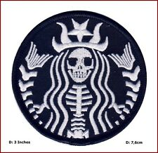 VELC. Dead Barista Starbucks Mermaid Rockabilly Horror Tattoo Goth Punk  Patch
