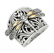 PHILLIP GAVRIEL-18K Pure Gold & Sterling Silver /925 Dragonfly Ring-Size 8-25MM