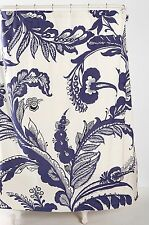 "NEW URBAN OUTFITTERS DELFT BLUE CLOTH SHOWER CURTAIN 72"" X 72"""