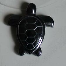 32mm  Hematite sea turtle pendant bead   g1332