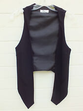 PORTMANS BLACK Draped Waterfall Vest WAISTCOAT Suit CAREER Work TOP 6 XS