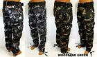 Men's MISKEEN ORIGINALS green grey camo relaxed straight fit cargo pants MTP20