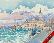 VENICE WATERS ITALY WATERCOLOR HENRI CROSS PAINTING ART REAL CANVAS GICLEE PRINT