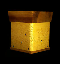Cedar Urn Northwest Coast Orca Mortuary Box Functional Cremains Receptacle