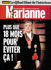 MARIANNE N° 974 / 2016 / LE FRONT NATIONAL