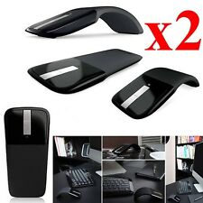 2PCS Microsoft Arc Touch Mouse Ultrathin Folding Mouse 2.4GHz Wireless Mouse