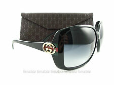 New Gucci Sunglasses GG 3166/S Black D28JJ Authentic Made in Italy