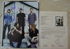 "Foo Fighters Signed 11x14 (ALL 5!) w/ ""Full Letter"" JSA LOA #Y50847 Dave Grohl"