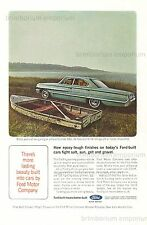Ford Galaxy 500   FORD-BUILT MEANS BETTER BUILT - Original Anzeige von 1964