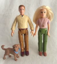 Fisher-Price Loving Family Dollhouse 3 Dolls Mother Father Dog Woman Man