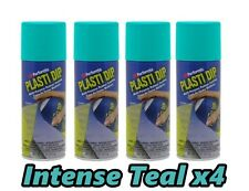 Performix Plasti Dip INTENSE TEAL 4 Pack Rubber Coating Spray 11oz Aerosol Cans