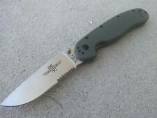 Ontario OKC RAT 1 OD Green Satin 1/2 Serrated Folding Pocket Knife AUS-8 8849OD