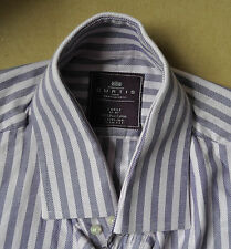 Hawes and Curtis pink & purple striped cotton shirt size large Jermyn Street