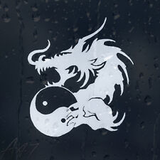 Dragon With Ying Yang Sign Car Or Laptop Decal Vinyl Sticker For Window Bumper