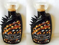 Lot of 2 Black and Gold Instant Black Bronzer Tanning Lotion Devoted Creations