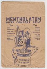 SMALL ANTIQUE ORIGINAL MENTHOLATUM ADVERTISEMENT PAPER POUCH OR ENVELOPE
