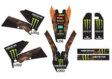 KTM GRAFICHE STICKERS MONSTER BLACK EXC SX 2003 2004 2005 2006 2007