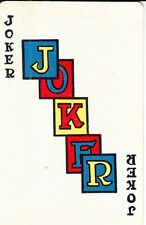 1 Single Vintage Linen Swap Playing Card JOKER