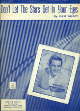 PERRY COMO-DON'T LET THE STARS GET IN YOUR EYES-PIANO/V/GUITAR SHEET MUSIC 1952!