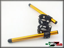 Strada 7 Racing CNC Clip On Handle Bars Honda CBR1000RR / RC51 Gold