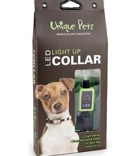 Unique Petz LED light Up Dog Collar Small Green NEW