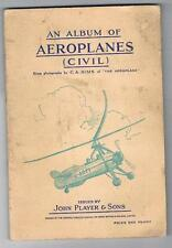 1935 John Players & Sons Aeroplanes (Civil) Tobacco Cards Full Set In Album