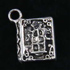 30pcs Tibetan Silver Book Pendants for Jewelry Making ABF234