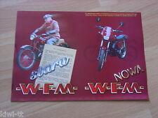 """WFM W01 + W02 """"Seria informacyjna"""" Prospekt / Brochure / Depliant, Polen, PL"""