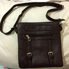 Brown Leather Sling /Body Bag