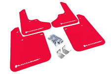 Rally Armor Mud Flaps Guards for 93-01 Subaru Impreza (Red w/White Logo)