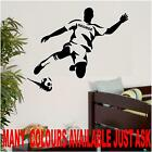 FOOTBALLER FOOTBALL PERSONALISED LARGE SOCCER WALL ART BEDROOM WALL STICKERS
