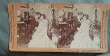 """Antique Stereoview Card Keystone View """"O, Your so sweet And those Beautiful...."""""""