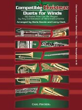 Compatible Christmas Duets For Winds Clarinet Trumpet Tenor Sax Play Music Book
