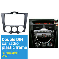 Double Din Car Radio Fascia Auto Stereo Panel Refitting Kit for 2003+ Mazda RX8