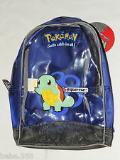 "NEW WITH TAGS ~POKEMON SMALL VINYL  BACKPACK  12"" HT. 8-1/2"" W.-1998 SQUIRTLE"
