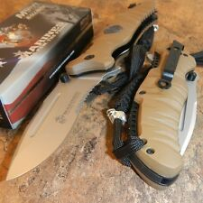 MARINES Spring Assisted Open MILITARY TACTICAL Folding Pocket Blade Knife USMC