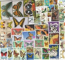 60 different BUTTERFLY stamps world butterflies collection