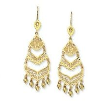 EJER22814 - Fancy Solid 14K yellow Gold Filigree Chandelier Earrings