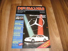 Der Masstab 5/1991 -- Magazin für Autofans / LKW bei RALLYE PARIS-DAKAR /600 SEL