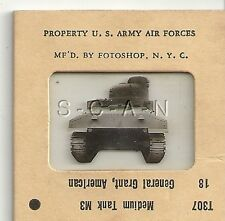 WWII US 35mm Recognition Slide Negative- Medium Tank- M3 Grant- Rear View